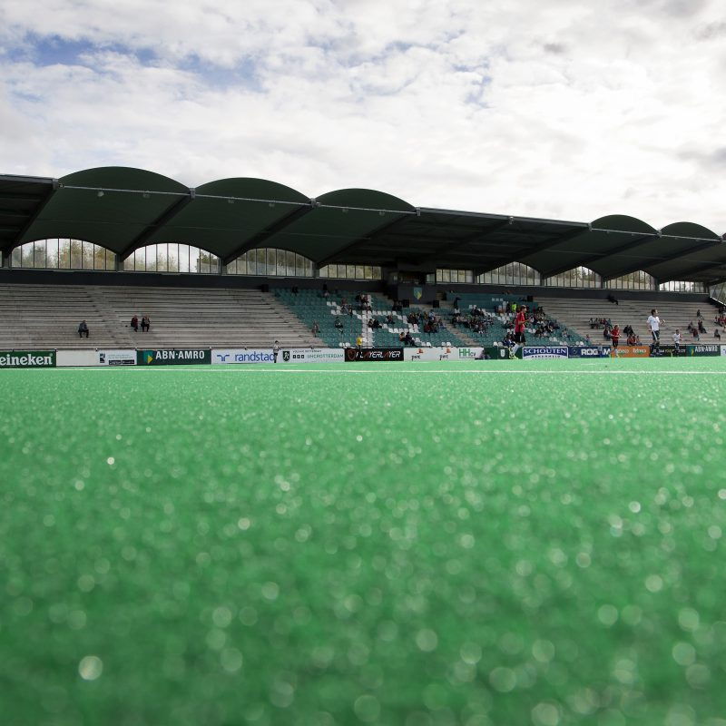 Rotterdam, Hoofdklasse Hockey Heren, Seizoen 2014-2015, 05-10-2014, Rotterdam - Schaerweijde 2-2,  Overzicht hockeystadion.